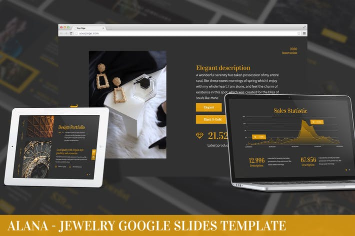 Thumbnail for Alana - Jewelry Google Slides Template