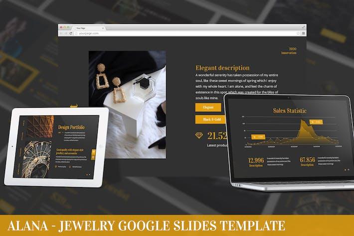 Alana - Jewelry Google Slides Template