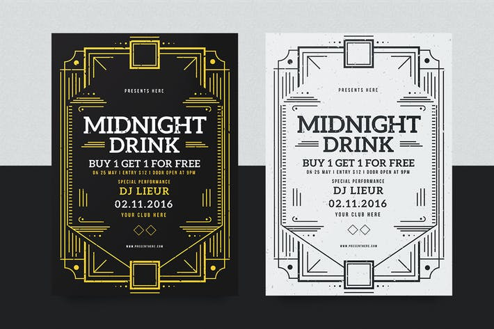 Cover Image For Midnight Drink Flyer