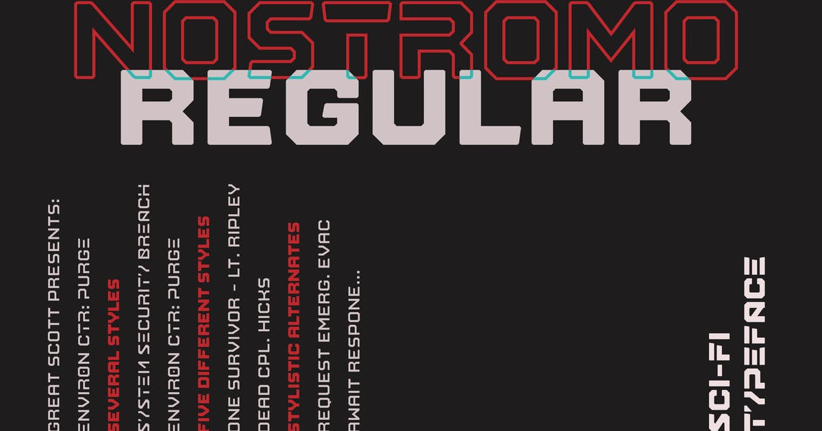Download Nostromo Regular by dafeld