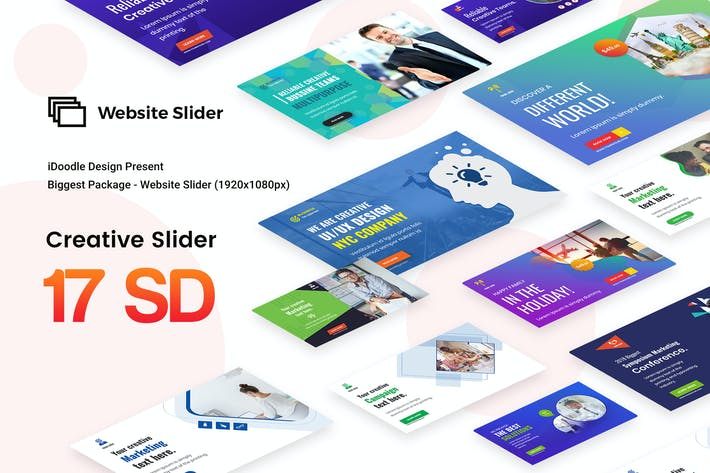 Thumbnail for Creative Multipurpose Website Slider - 17 PSD