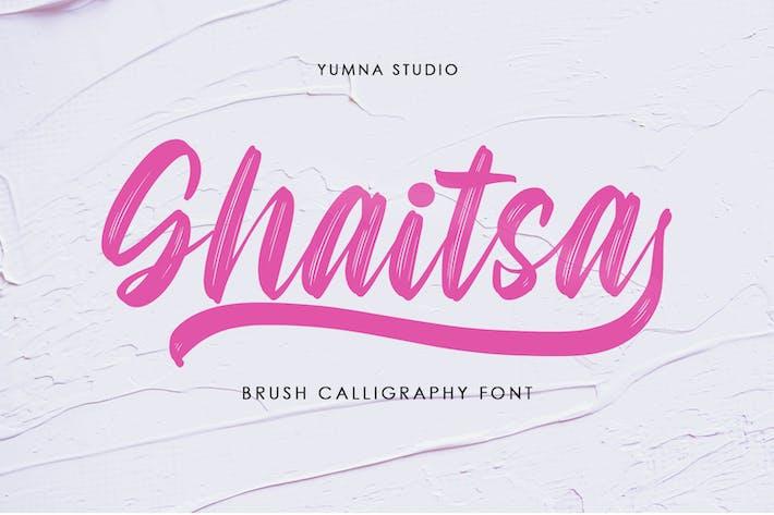 Thumbnail for Ghaitsa - Textured Brush Font