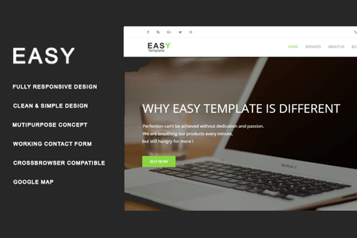 Thumbnail for Easy Template - Multiuse HTML Template