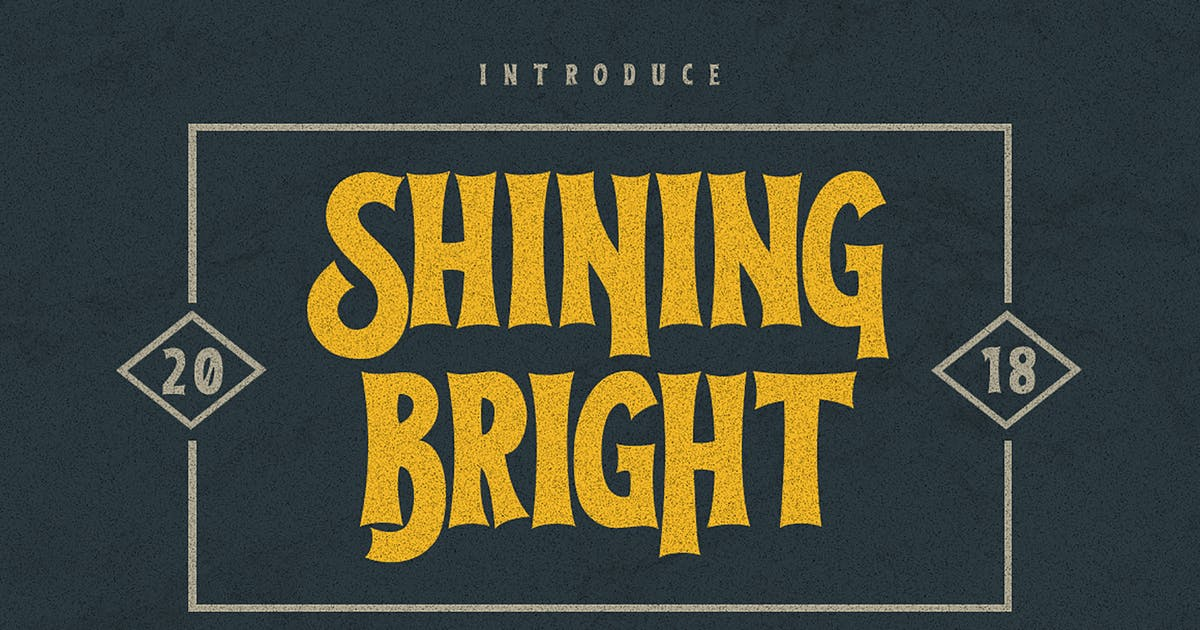 Download Shining Bright Typeface by giemons