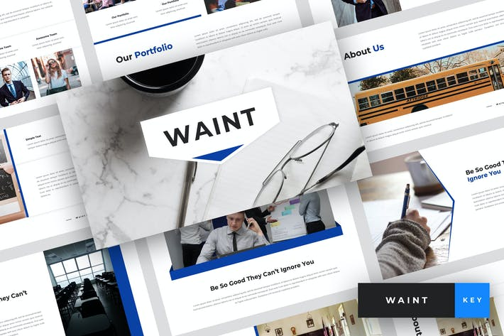 Thumbnail for Waint - School Keynote Template