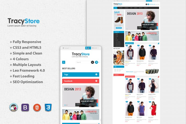 Thumbnail for Leo Tracy Minimal Fashion Prestashop Theme