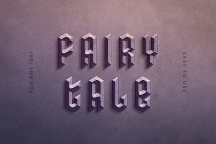 Stone Letters Text Effect