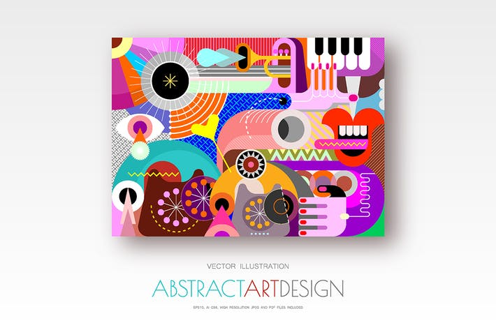 Thumbnail for Abstract Digital Art vector design
