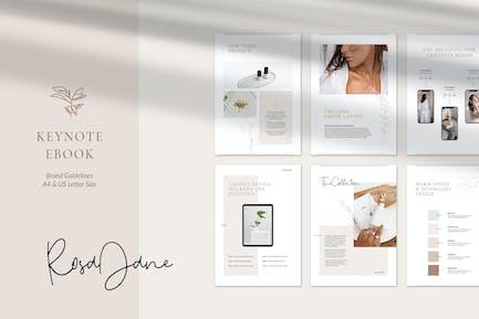 Keynote ка Шаблон электронной книги Роза Джейн