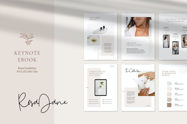 Cover Image For Keynote eBook Template Rosa Jane