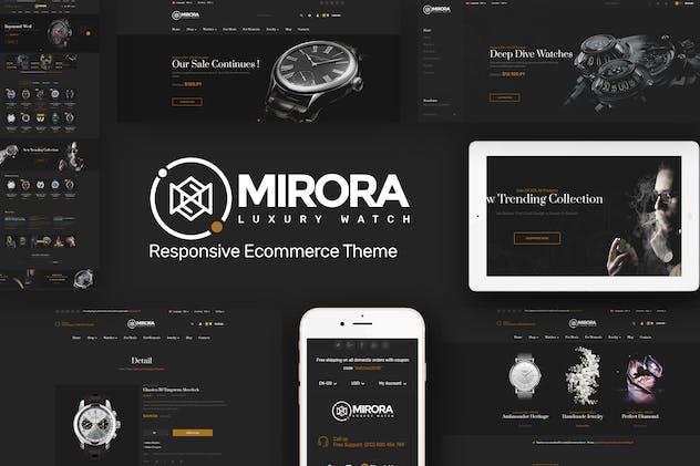 Mirora - Watch & Luxury Store Opencart Theme