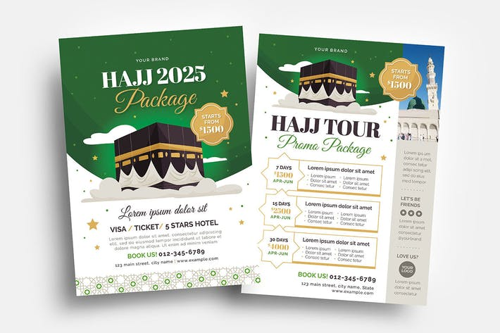 Hajj Umrah Flyer & DL Templates