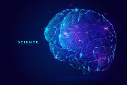 Brain Background For Science & Technology