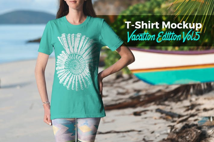 Thumbnail for T-Shirt Mockup Vacation Edition Vol. 5
