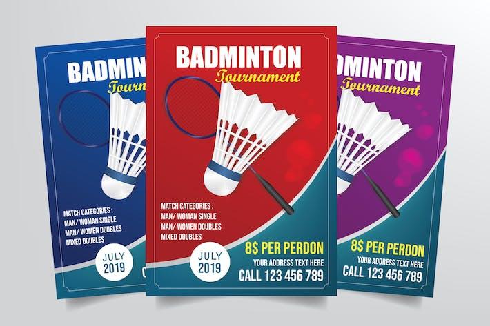 Thumbnail for Badminton Tournament Flyer Template