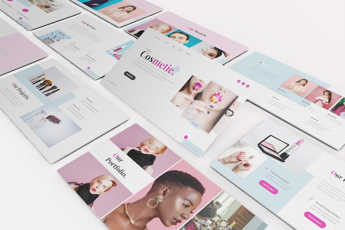 Cosmetic Google Slides Template