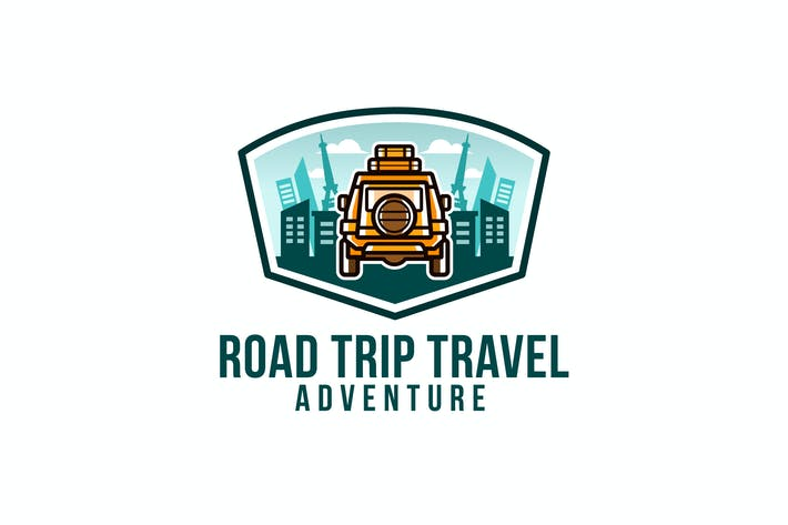 Cover Image For Road Trip Travel Logo Template
