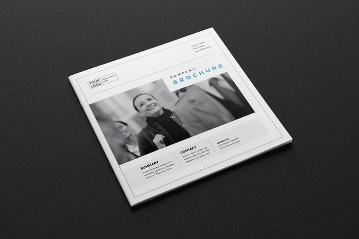 Thumbnail for Corporate Business Square Brochure