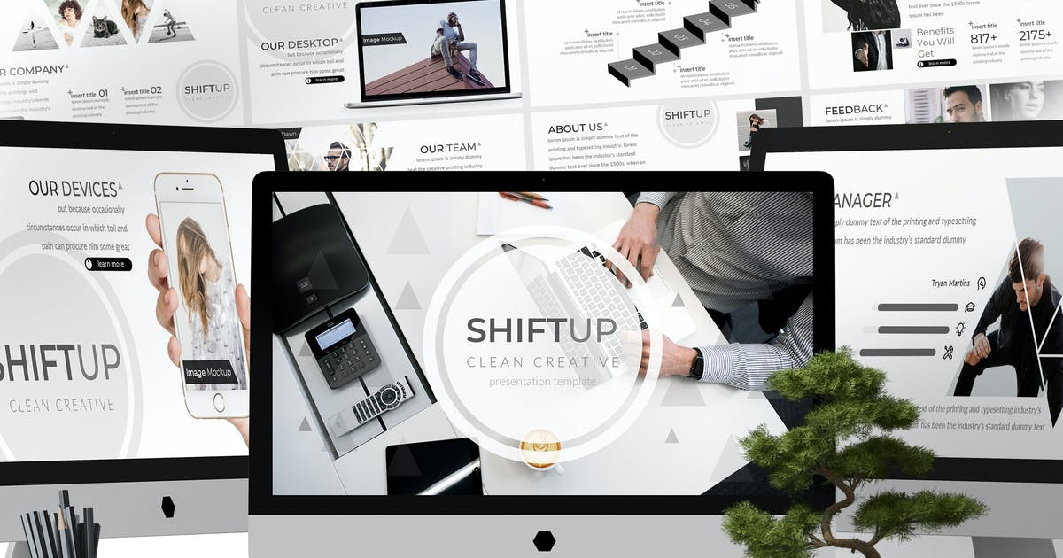 Download Shift Up - Powerpoint Template by aqrstudio