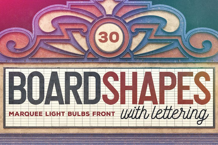Thumbnail for Marquee Light Bulbs Front 4 - 30 Boards & Letters