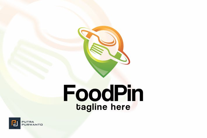Thumbnail for Food Pin - Logo Template