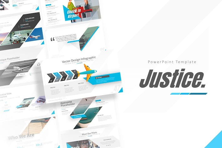 Thumbnail for Justice - Airplane Powerpoint Presentation