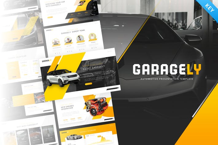 Thumbnail for Garagely - Automotive Keynote Template