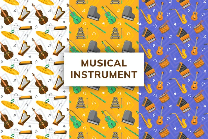 Musical Instrument Seamless Pattern