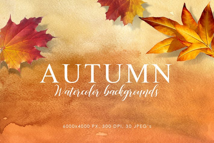 Thumbnail for Autumn Watercolor Backgrounds Volume 1