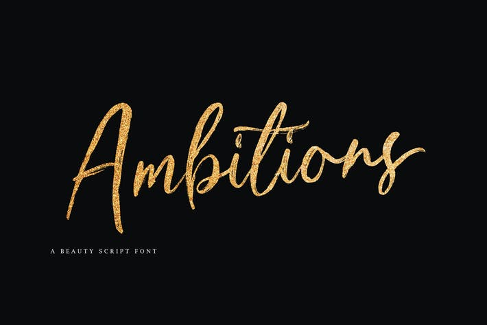 Thumbnail for Ambitions Font