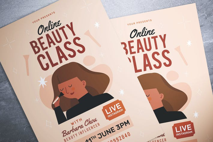 Thumbnail for Beauty Class Flyer