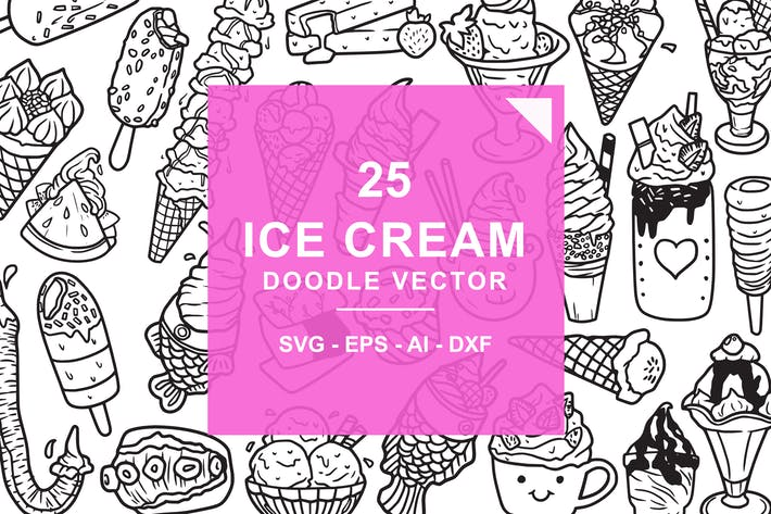 Thumbnail for Ice Cream Doodle Vector