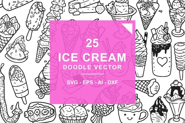 Thumbnail for Eiscreme Doodle Vektor