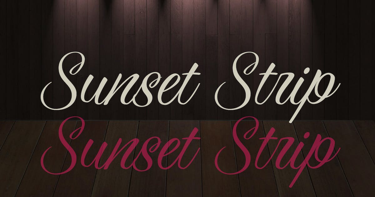 Download Sunset Strip by WalcottFonts
