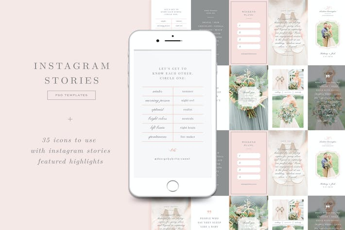 Thumbnail for Wedding Photographer Instagram Stories Templates