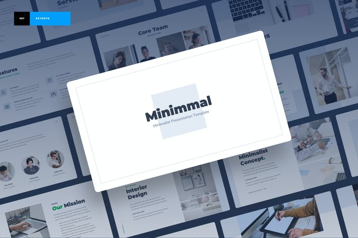 Thumbnail for Minimmal - Minimalist Keynote Presentation