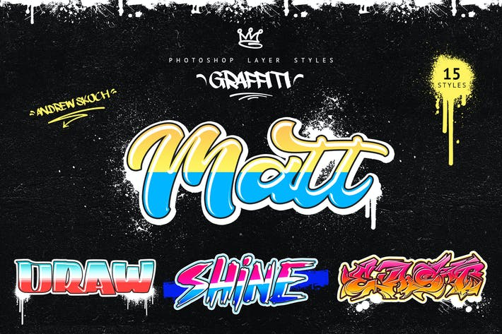 Thumbnail for Graffiti - Photoshop Layer Styles