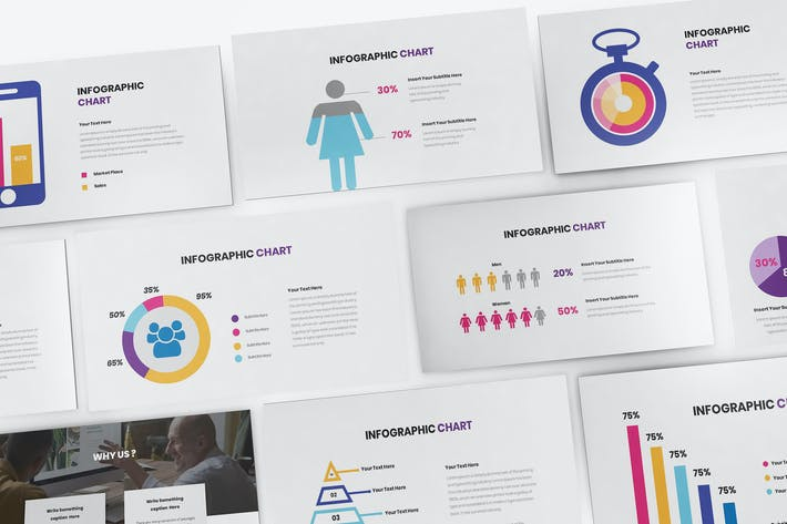 Thumbnail for Chart Infographic Keynote Template