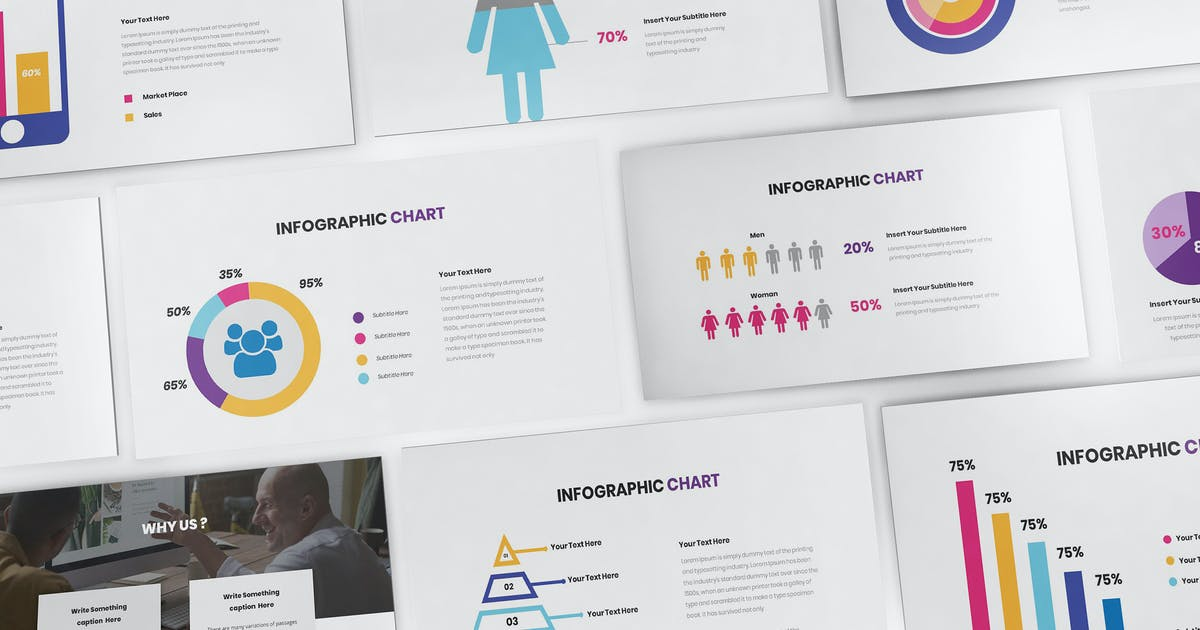 Download Chart Infographic Keynote Template by Formatika