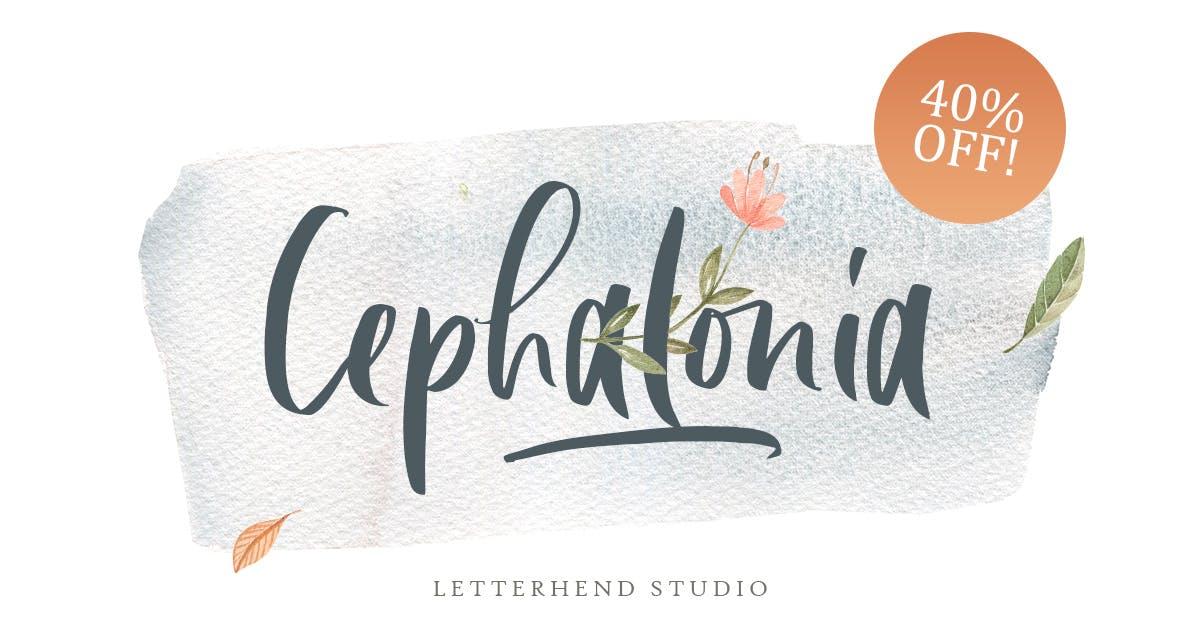 Cephalonia Font by letterhend
