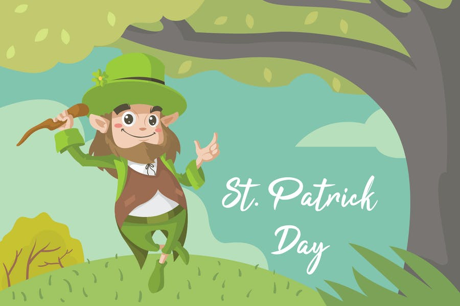 Patrick Day - Vector Illustration