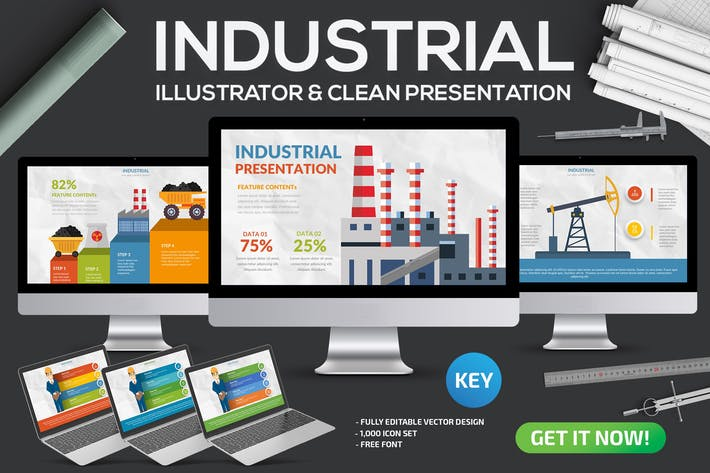Thumbnail for Industrial Keynote Template