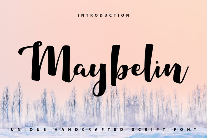 Thumbnail for Maybelin | Unique Handcrafted Script Font