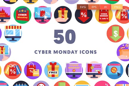 Cyber Monday Icons