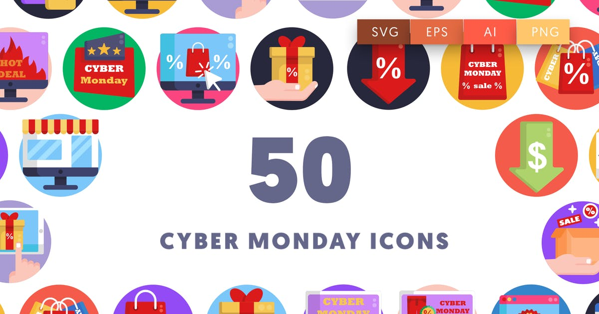 Download Cyber Monday Icons by thedighital