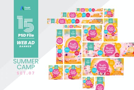 Web Ad Banner-Kids Summer Camp 07