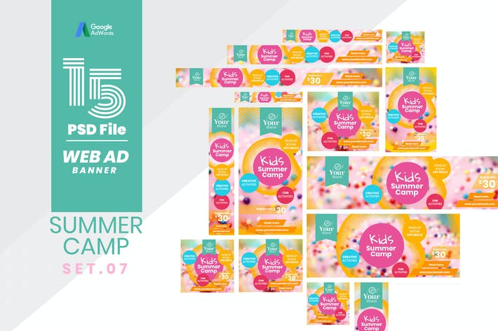 Thumbnail for Web Ad Banner-Kids Summer Camp 07