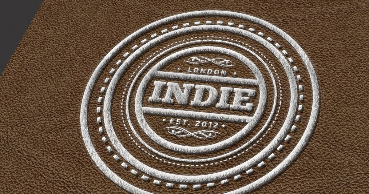 Leather Logo Mockup by mamanamsai