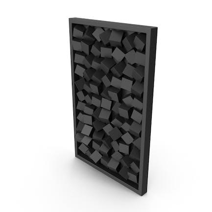 Wanddekoration, modernes Holz, Schwarz