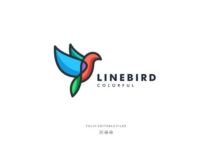 Thumbnail for Bird Color Line Art Logo